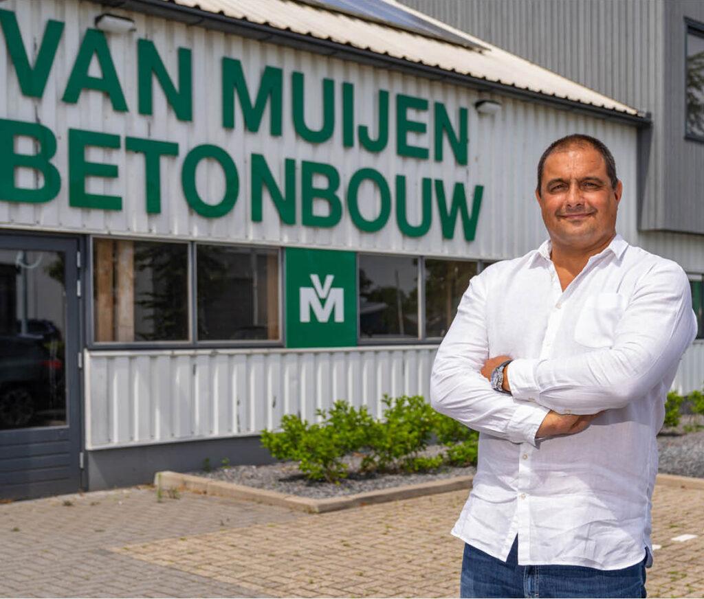 Misja Bakker, eigenaar van Van Muijen Betonbouw