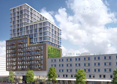 The Frame Building in de Bijlmer Amsterdam