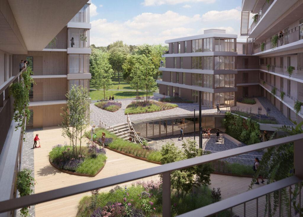 appartementen Rotterdam Prinsenpark binnentuin